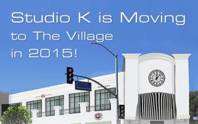 Studio K is Moving to The Village in 2015!